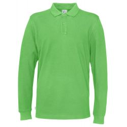 Fairtrade Ekologisk Polo Pikéskjorta Man Long Sleeve